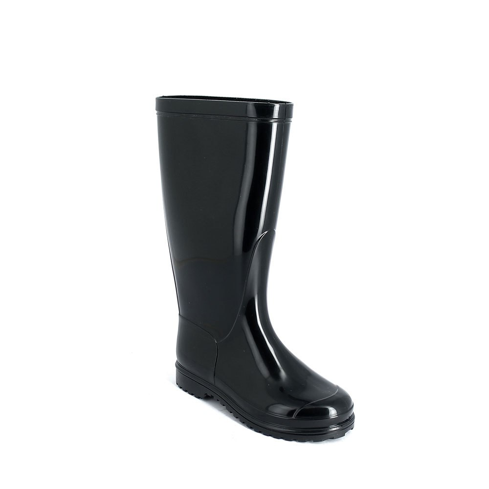 Rain boot in bright PVC with medium height boot leg