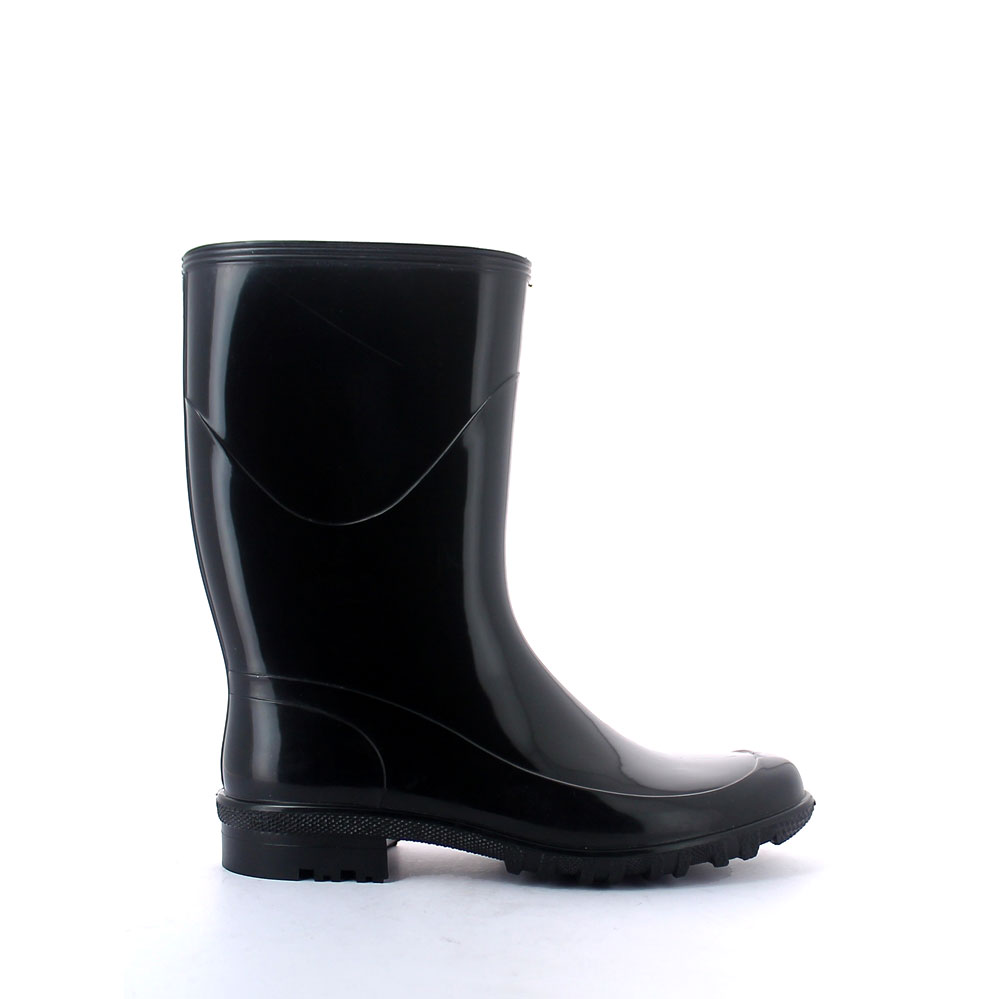 Rainboot in bright PVC, with low bootleg and calendered outsole