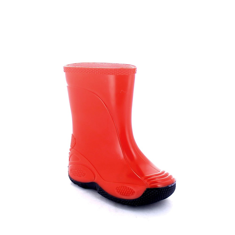 Children rainboot made of two-colour pvc with bright finish