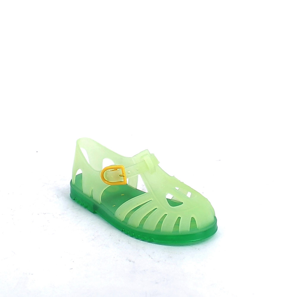 Solid colour pvc sandal with sand-blasted effect and two-hole upper 21-38 col