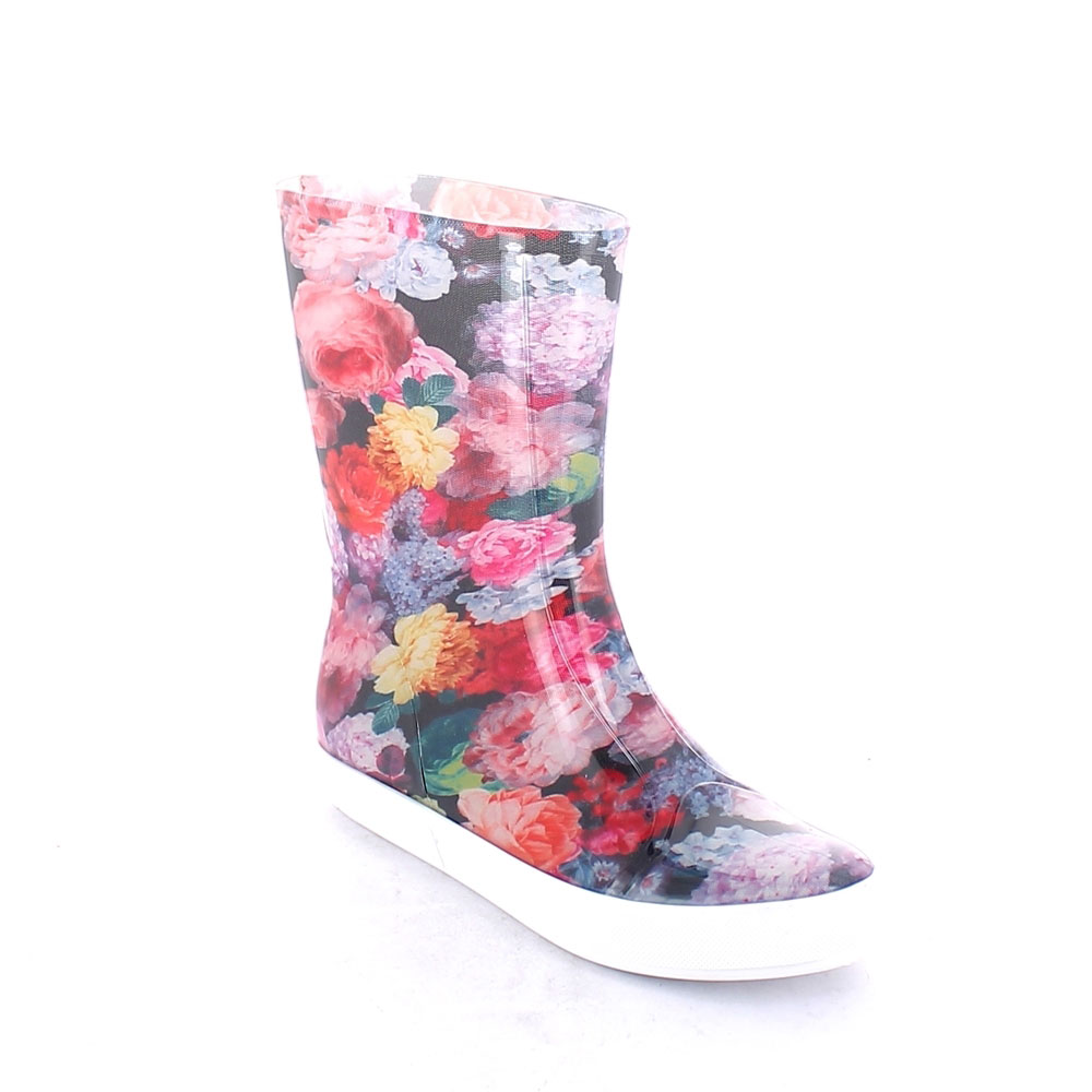 "Two-Colour Bright pvc Sneaker low boot with ""cut and sewn"" fantasy inner sock ""Ortensie"""