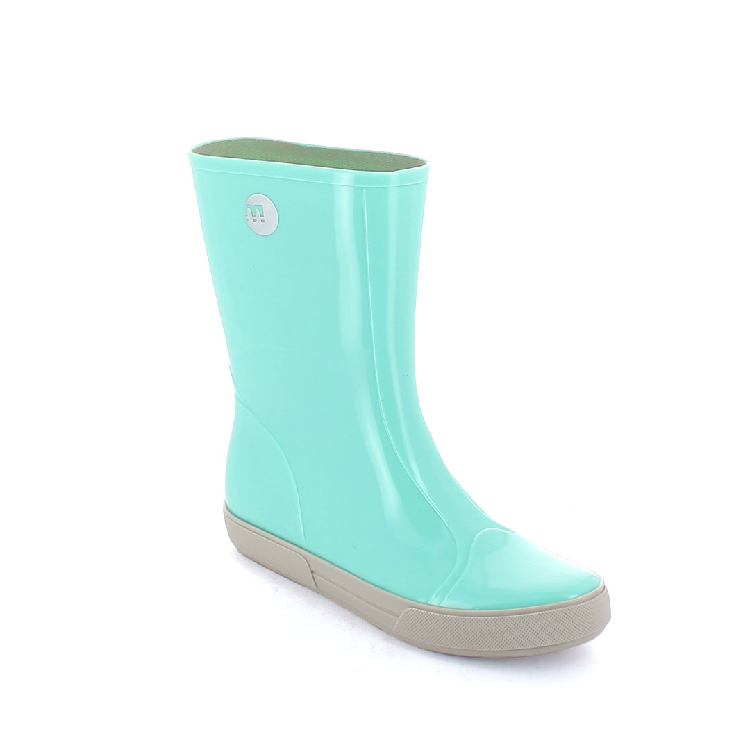 Two-Colour Bright pvc Sneaker low boot with pad printing on the boot leg