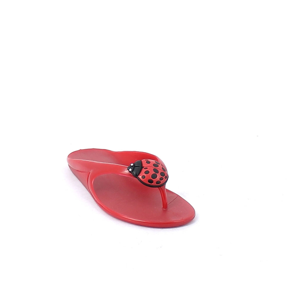 Solid colour pvc flip flop with bright finish