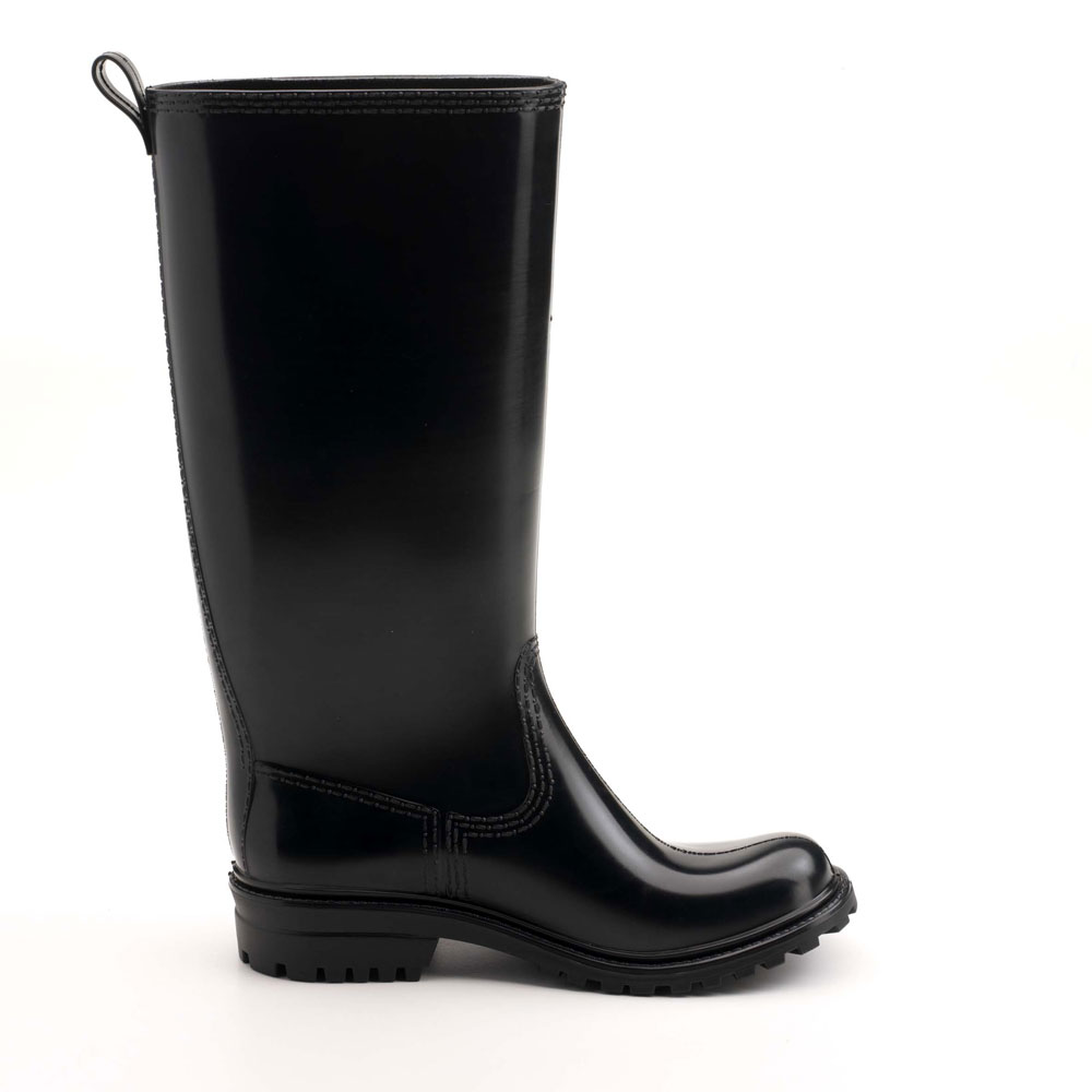 Country style pvc Rainboot with loop and lug outsole