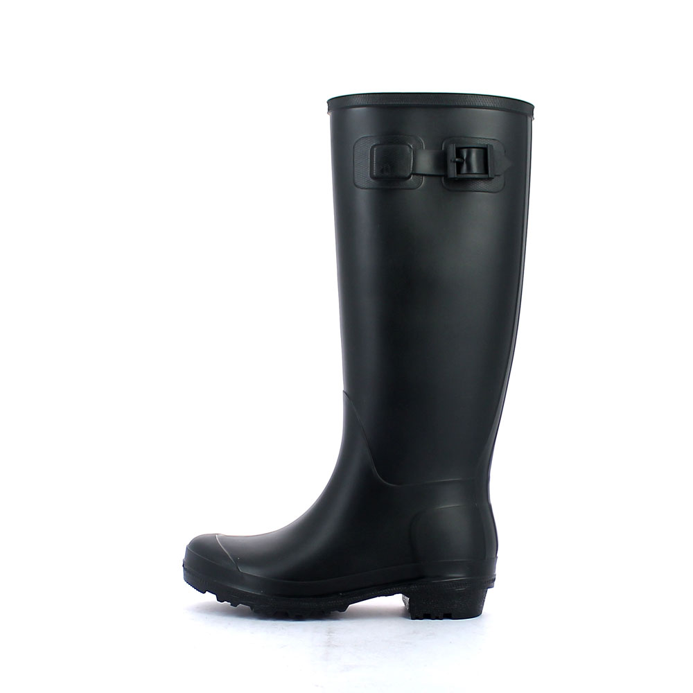 Wellington boot in matt  pvc with buckle on vamp upper side  and classic outsole