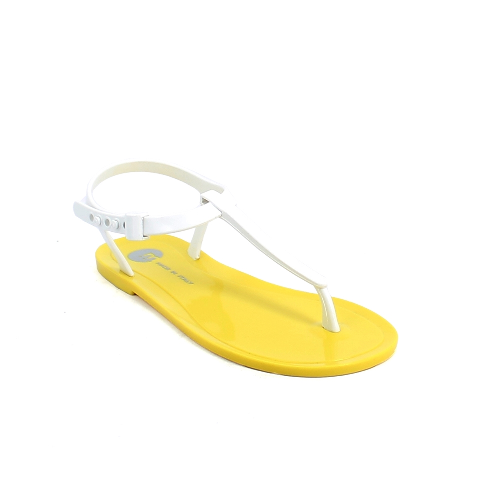 Pvc Flip flop sandal with buckle and plastic loop; pad printing on the insole