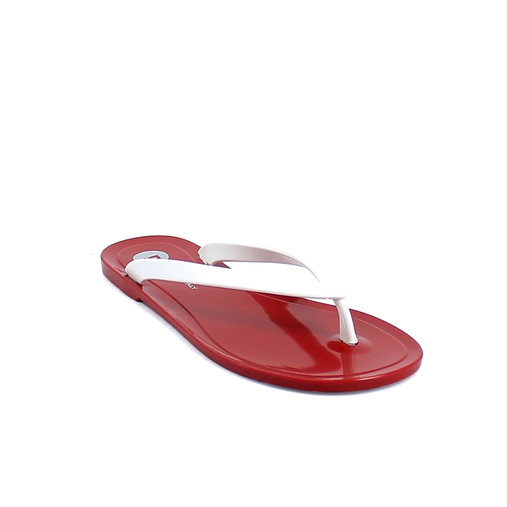 Pvc flip flop with pad printing on the insole