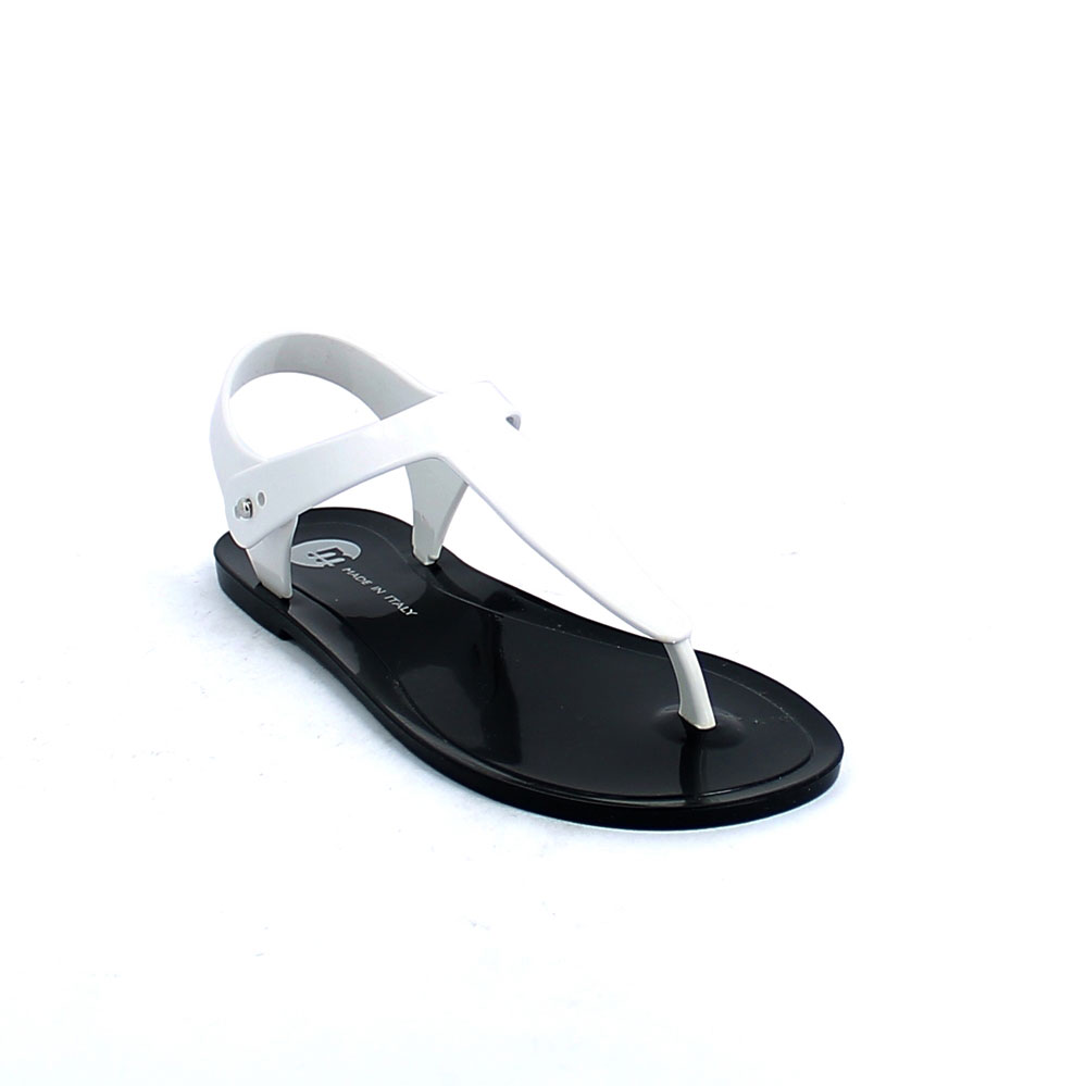 "Flip flop ""Gladiator"" sandal made of solid colour pvc and with pad printing on the insole"