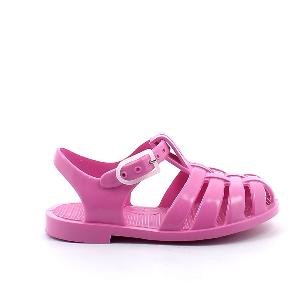 Solid colour brigh finish pvc jelly beach sandal