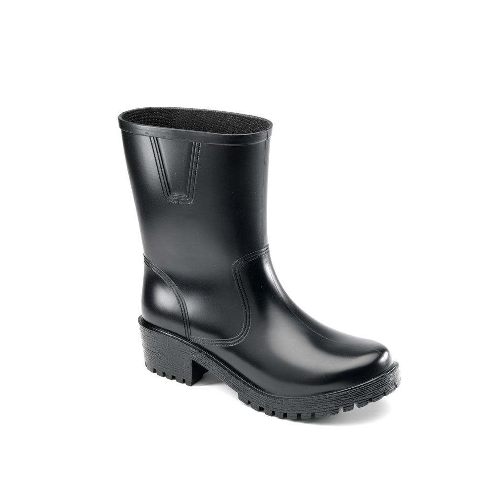 Matt finish pvc biker boot model. Made in Italy