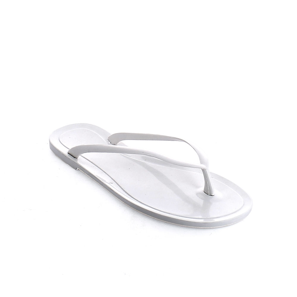 Flip flop sandal made of solid colour pvc customizable with lace