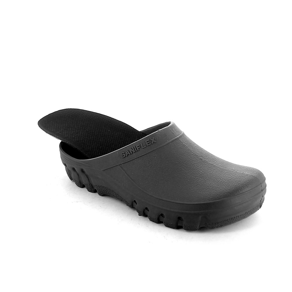 Solid colour pvc Garden clog with extractable insole