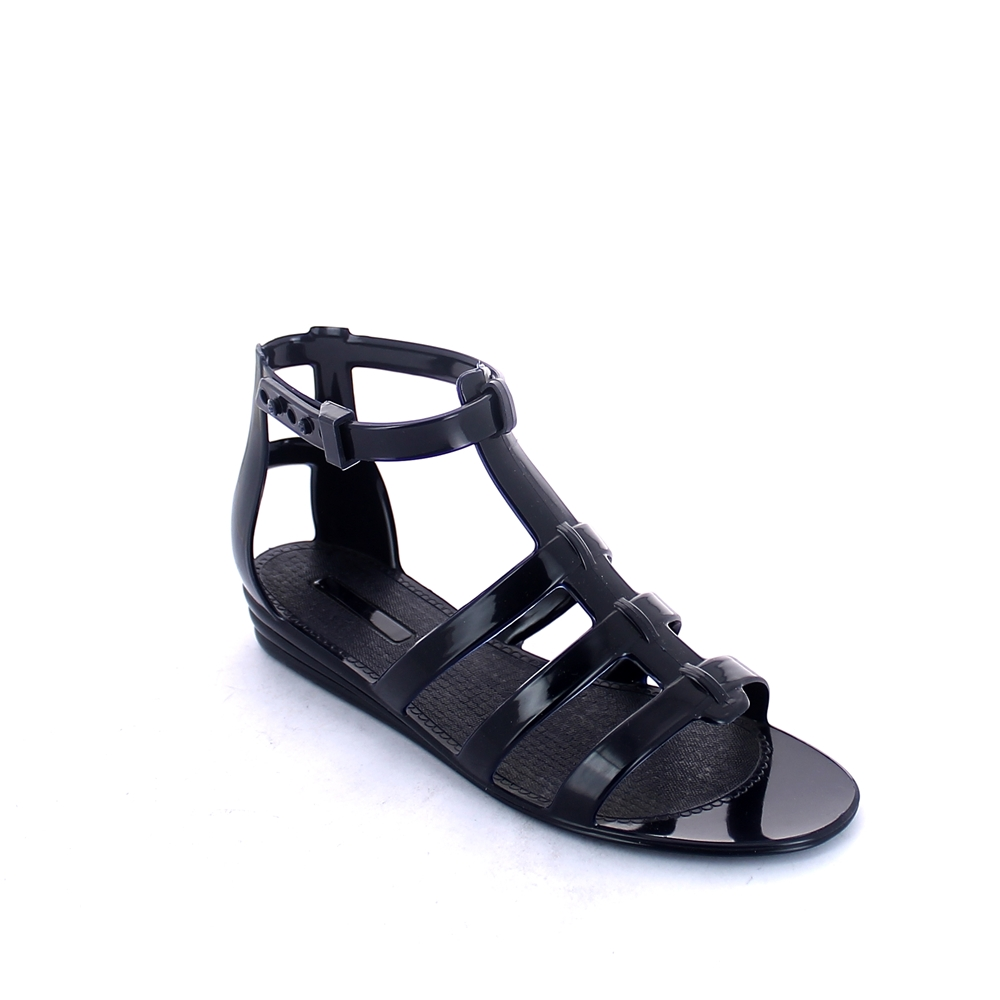 """Slave"" type Sandal made of solid colour pvc with bright finish"