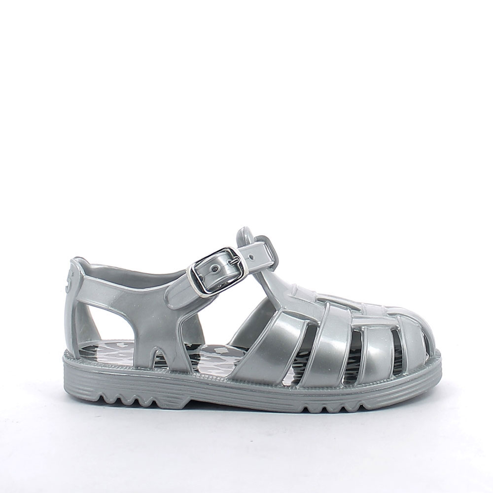 Two-colour pvc sandal with bright finish. Made iln Italy 50-28 lato