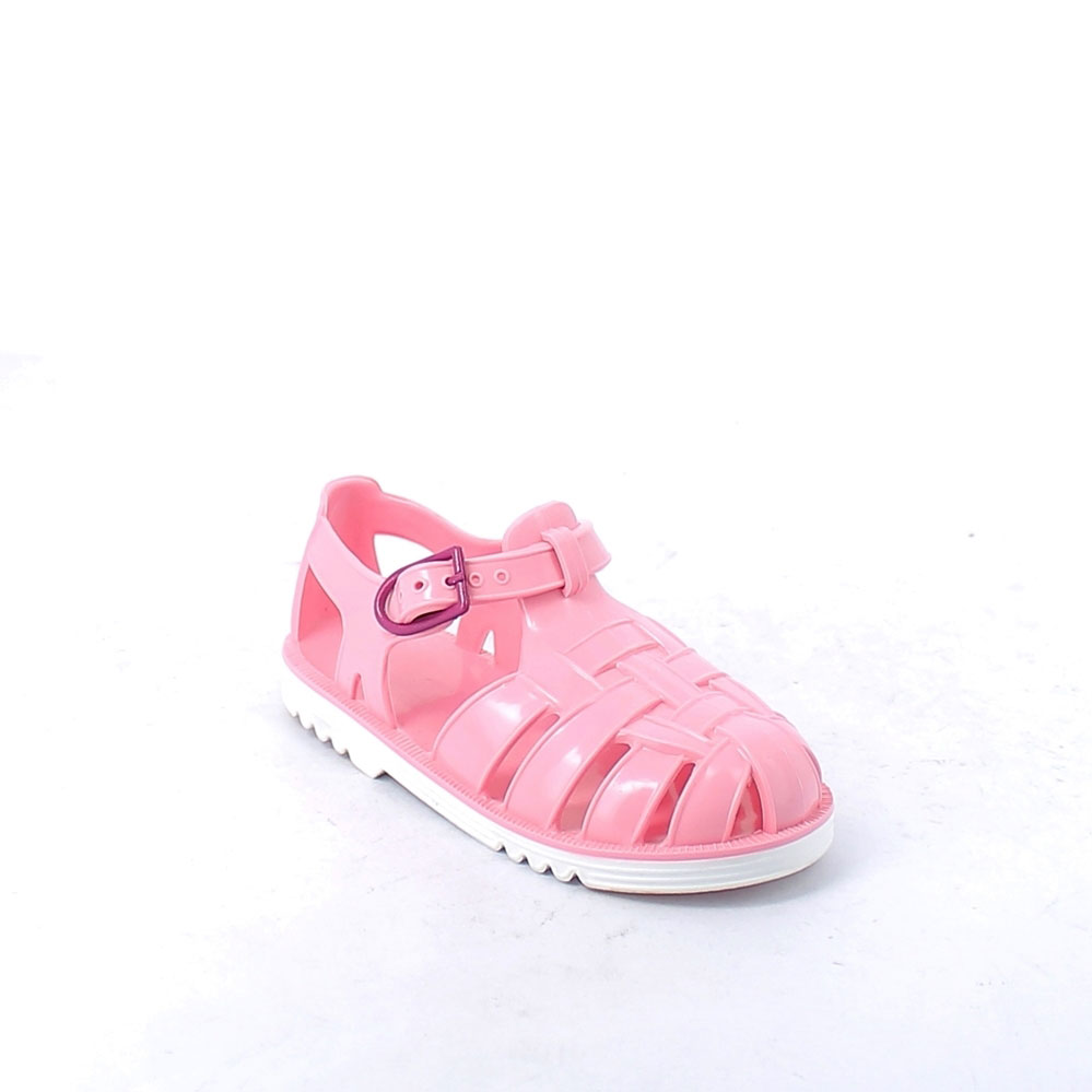 Two-colour pvc sandal with bright finish. Made iln Italy 50-38 col