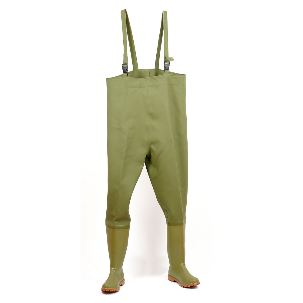 Two-colour fishing waders boot. With Lug outsole