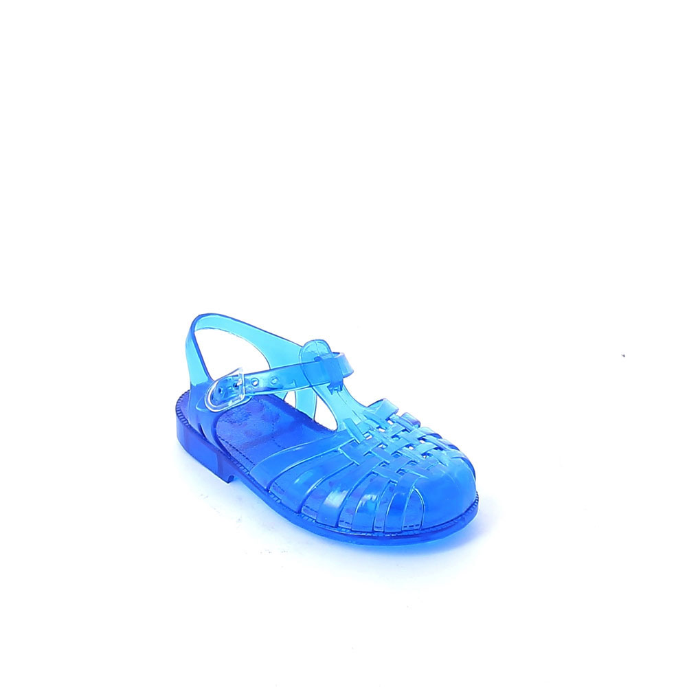 Solid colour pvc jelly sandal with bright effect
