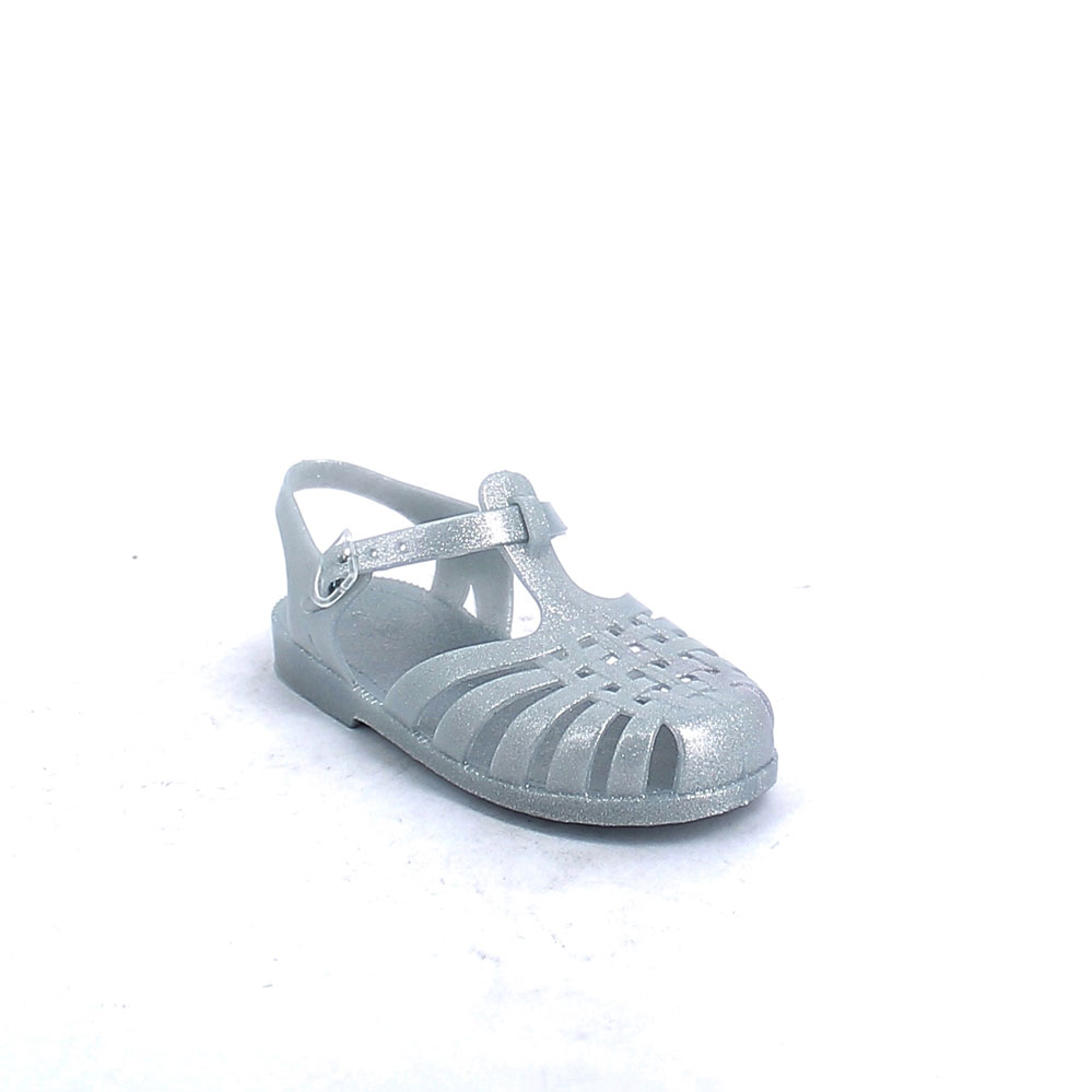 Solid colour pvc jelly sandal with bright effect 86-38655 col