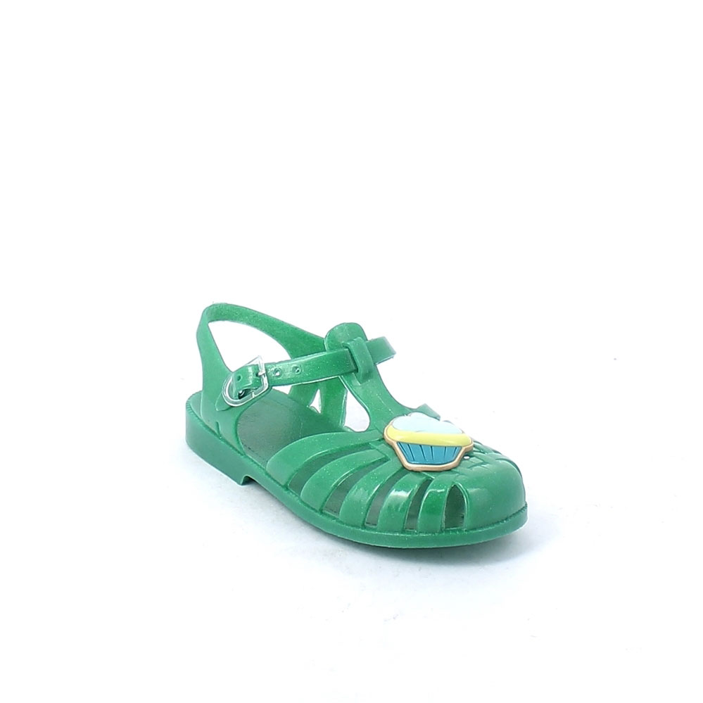 Solid colour pvc jelly sandal with bright effect 86-38655CUP col