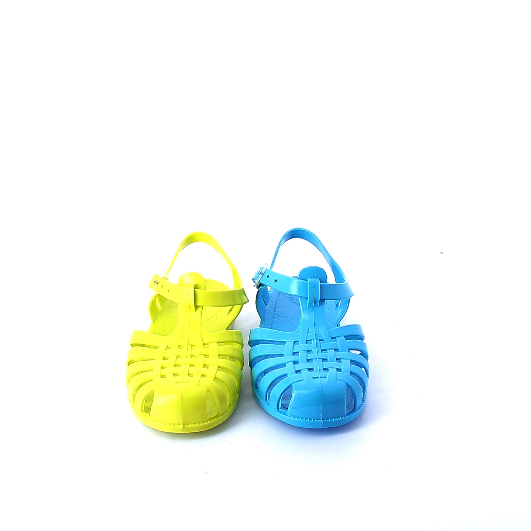 Solid colour pvc jelly sandal with bright effect 86 basico, pvc colori coprenti
