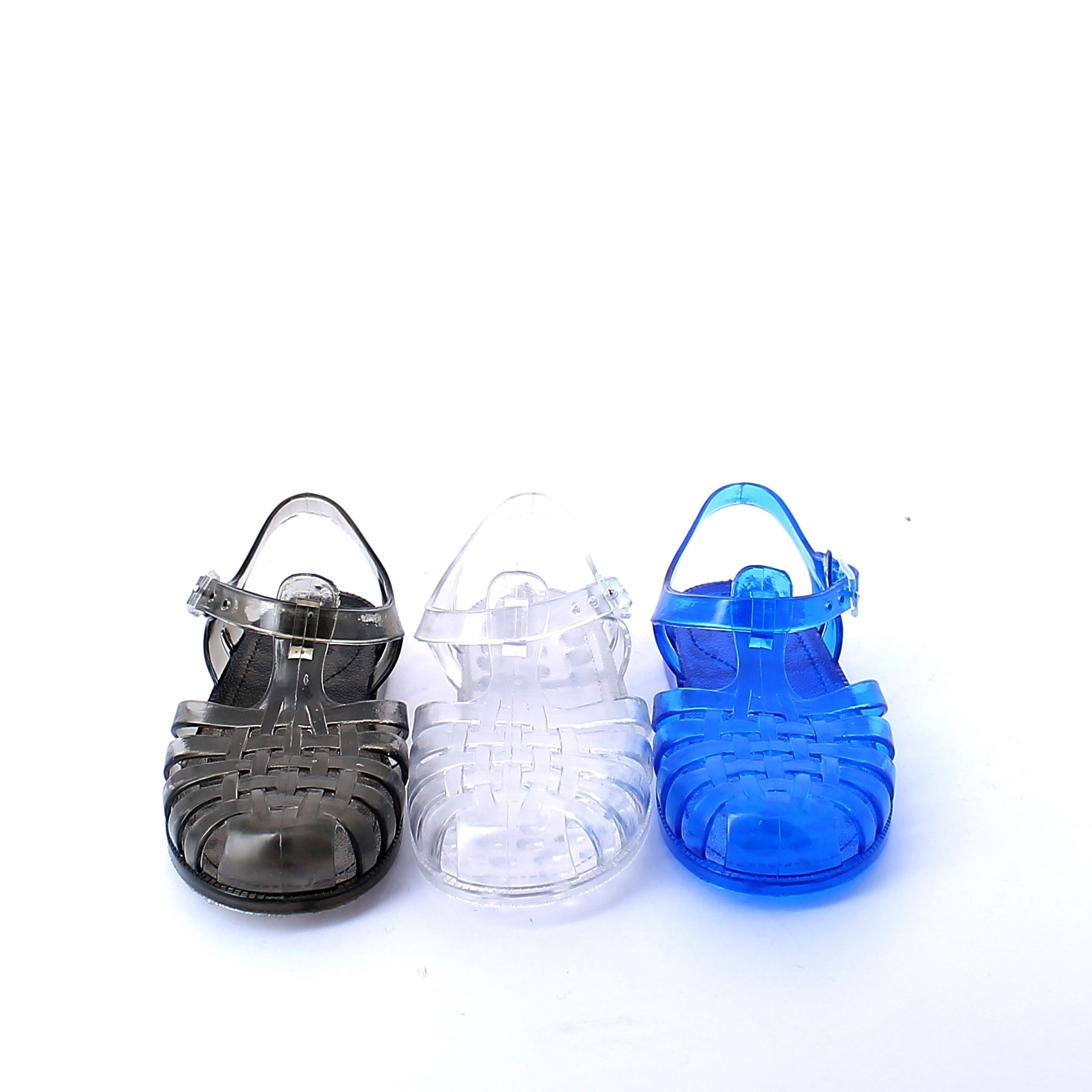 Solid colour pvc jelly sandal with bright effect 86 basico, pvc colori trasparenti