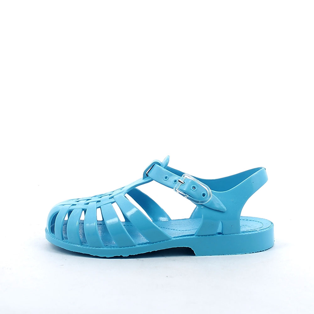 Solid colour pvc sandal with bright effect