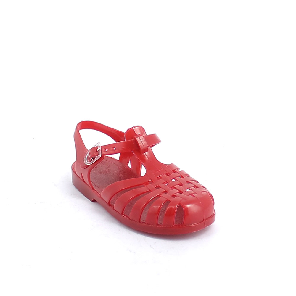 Solid colour pvc jelly sandal with bright effect 86-38 col