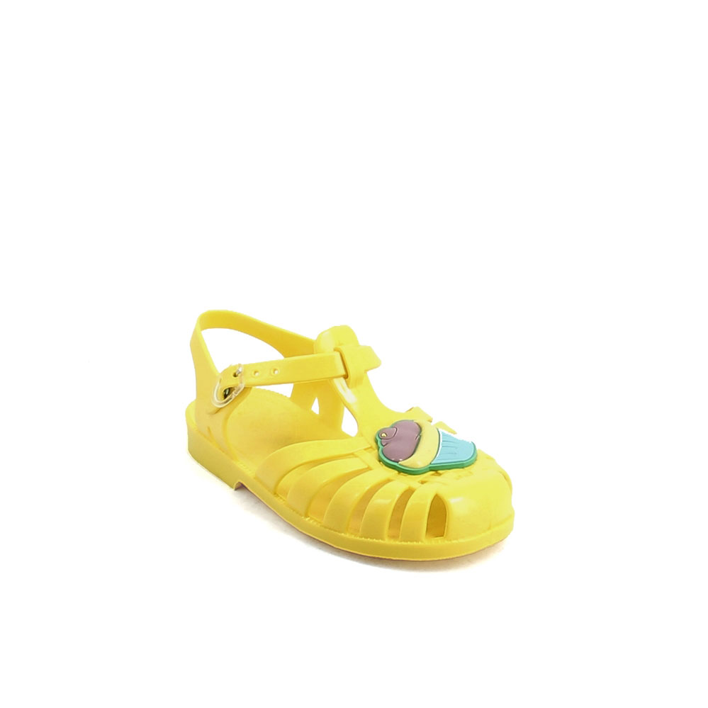 Solid colour pvc jelly sandal with bright effect 86-38CUP col