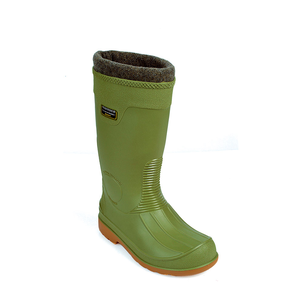 Pvc knee Boot , equipped with a very warm extractable insock with termic effect