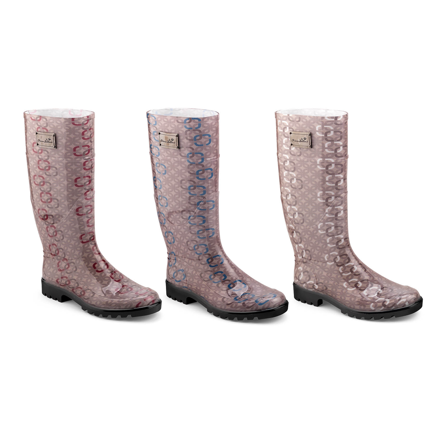 customized Texture print on high rainboot