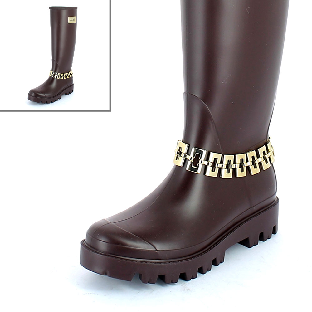 Maglia in metallo nickel free color oro su wellington boot